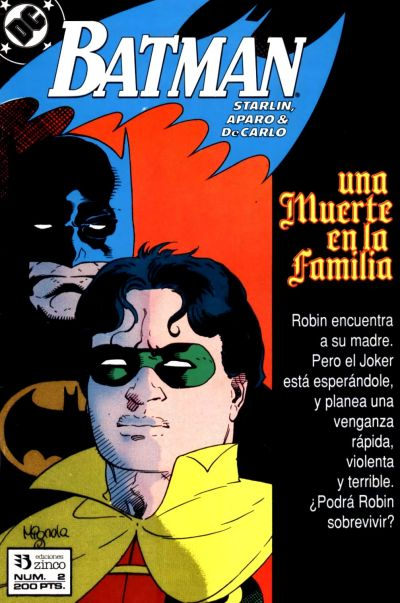 Cover for Batman [Batman Una muerte en la Familia] (Zinco, 1989 series) #2