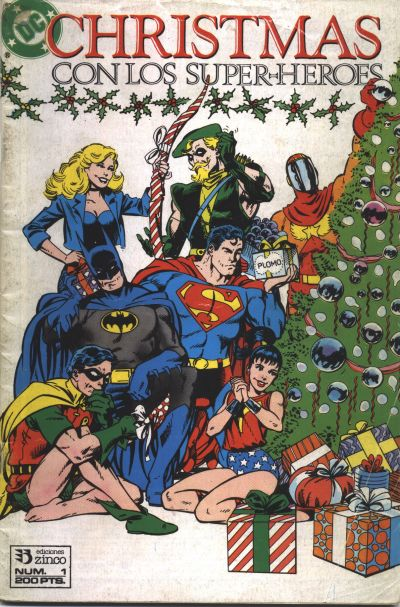 Cover for Christmas con los superhéroes (Zinco, 1989 series) #1