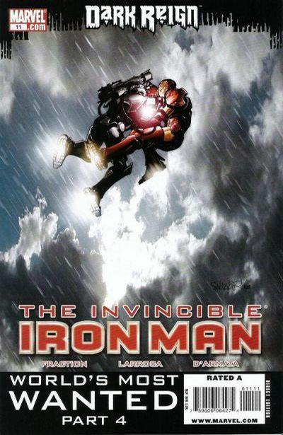 Cover for Invincible Iron Man (2008 series) #11 [Second Printing]