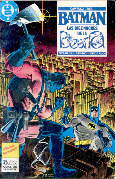 Cover for Batman (Zinco, 1987 series) #25