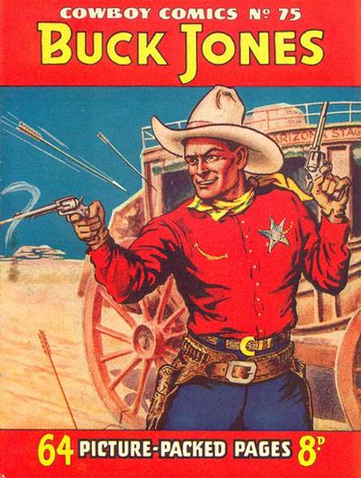 Cover for Cowboy Comics (Amalgamated Press, 1950 series) #75