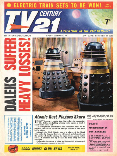 Cover for TV Century 21 (City Magazines; Century 21 Publications, 1965 series) #36