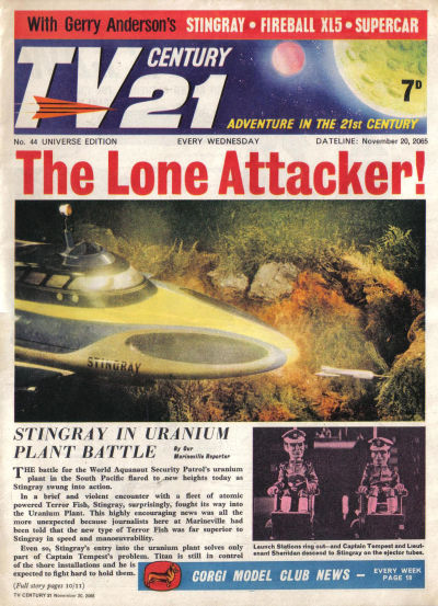 Cover for TV Century 21 (City Magazines; Century 21 Publications, 1965 series) #44