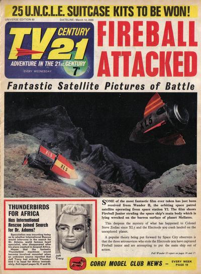 Cover for TV Century 21 (City Magazines; Century 21 Publications, 1965 series) #60