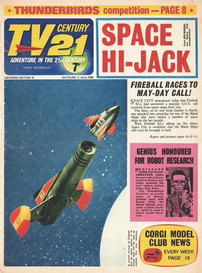 Cover for TV Century 21 (City Magazines; Century 21 Publications, 1965 series) #72