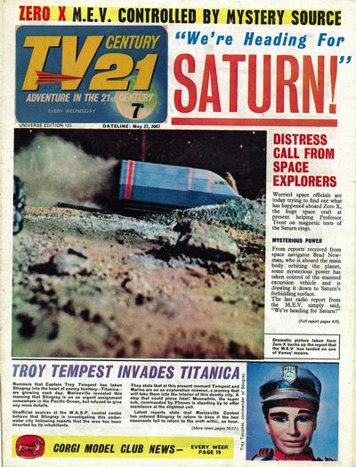 Cover for TV Century 21 (City Magazines; Century 21 Publications, 1965 series) #123
