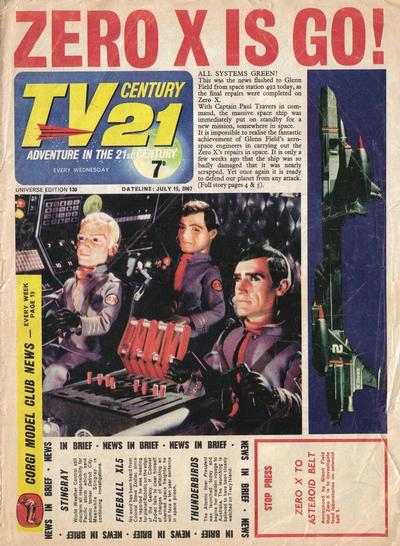 Cover for TV Century 21 (City Magazines; Century 21 Publications, 1965 series) #130