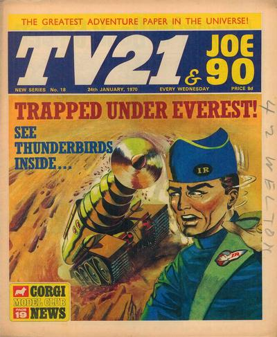 Cover for TV21 & Joe 90 (City Magazines; Century 21 Publications, 1969 series) #18