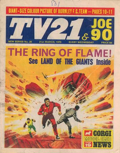 Cover for TV21 & Joe 90 (City Magazines; Century 21 Publications, 1969 series) #26