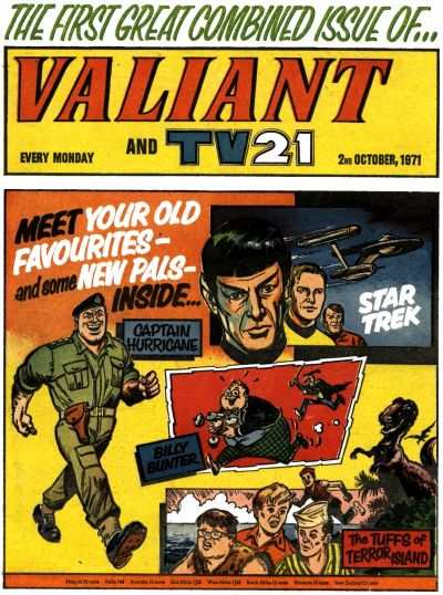 Cover for Valiant and TV21 (IPC, 1971 series) #2nd October 1971