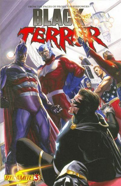 Cover for Black Terror (2008 series) #3 [Alex Ross Negative Art Incentive Cover]