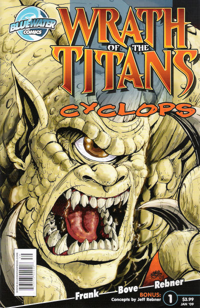 Cover for Wrath of the Titans: Cyclops (Bluewater Productions, 2009 series) #1