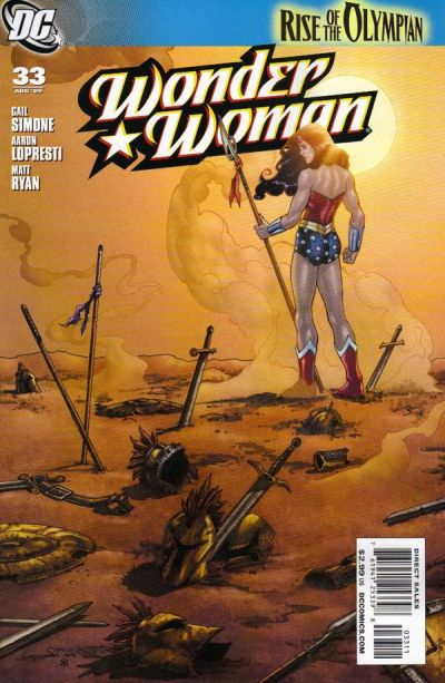 Cover for Wonder Woman (DC, 2006 series) #33 [Bernard Chang Variant]