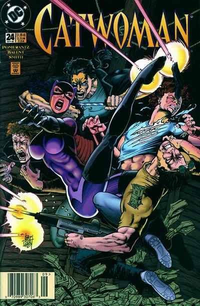 Cover for Catwoman (DC, 1993 series) #24 [Newsstand]