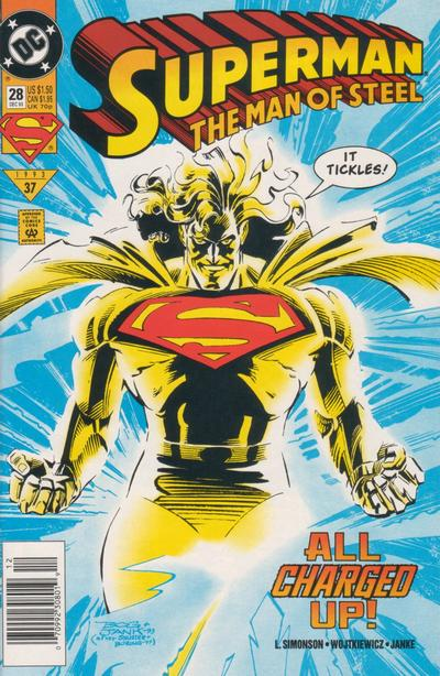 Cover for Superman: The Man of Steel (DC, 1991 series) #28 [Direct Sales]