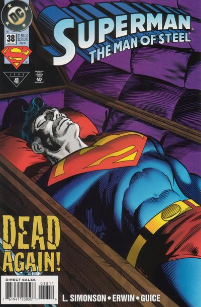 Cover for Superman: The Man of Steel (DC, 1991 series) #38