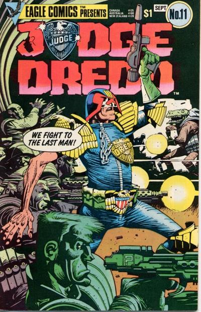 Cover for Judge Dredd (Eagle Comics, 1983 series) #11