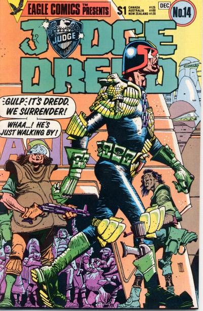 Cover for Judge Dredd (Eagle Comics, 1983 series) #14