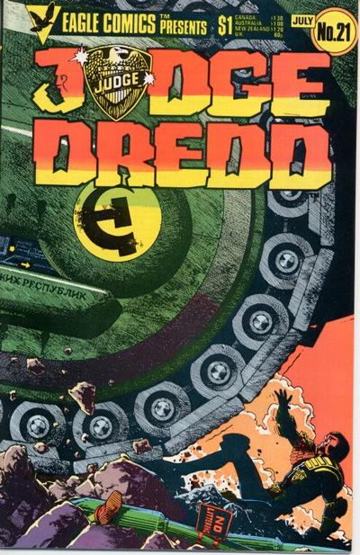 Cover for Judge Dredd (Eagle Comics, 1983 series) #21