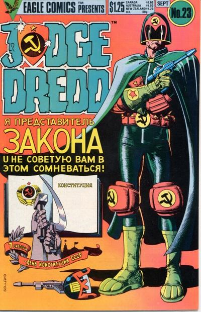Cover for Judge Dredd (Eagle Comics, 1983 series) #23