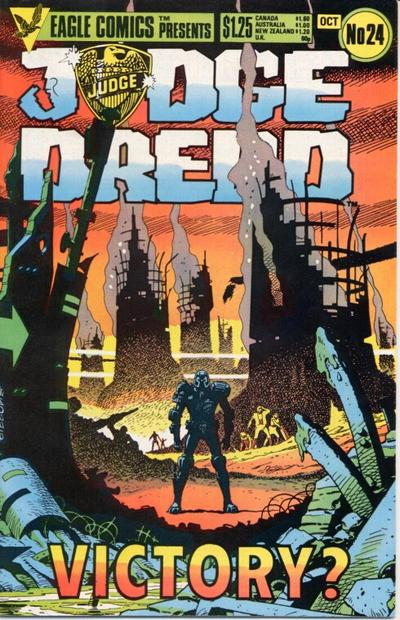 Cover for Judge Dredd (Eagle Comics, 1983 series) #24