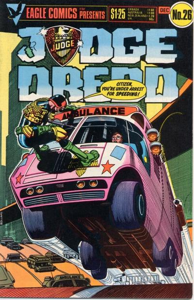 Cover for Judge Dredd (Eagle Comics, 1983 series) #26