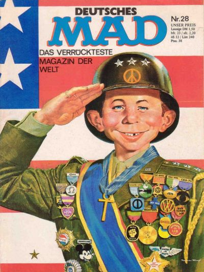 Cover for Mad (1967 series) #28