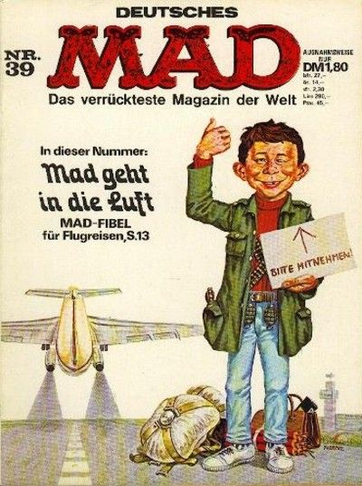 Cover for Mad (1967 series) #39