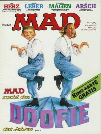Cover for Mad (BSV - Williams, 1967 series) #221
