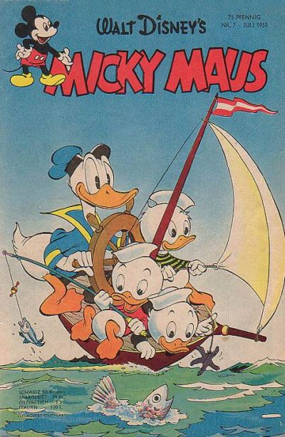 Cover for Micky Maus (1951 series) #7/1953