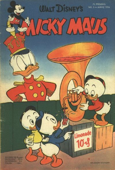 Cover for Micky Maus (1951 series) #3/1954