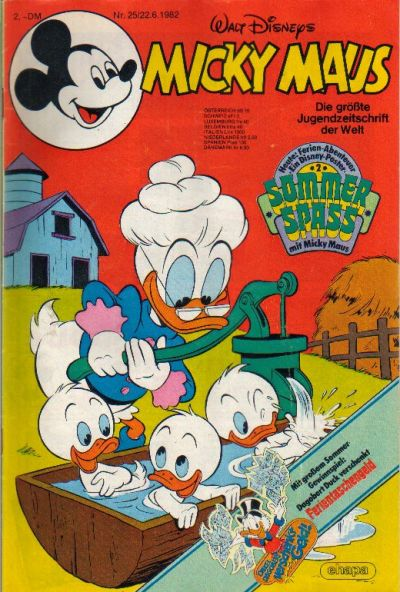 Cover for Micky Maus (1951 series) #25/1982
