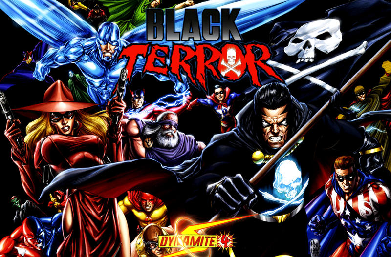 Cover for Black Terror (Dynamite Entertainment, 2008 series) #4 [Mike Lilly 1-in-15 Cover]