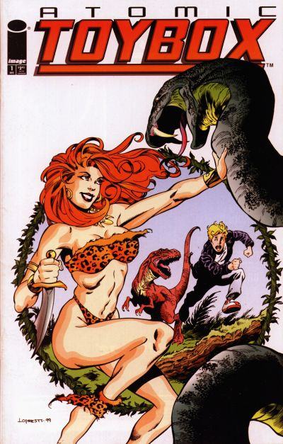 Cover for Atomic Toybox (Image, 1999 series) #1 [Pirate Girl Cover]