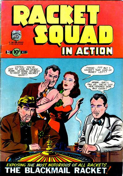 Cover for Racket Squad in Action (Charlton, 1952 series) #3