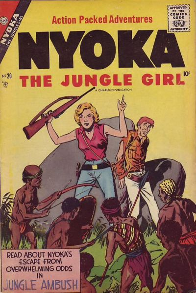 Cover for Nyoka the Jungle Girl (Charlton, 1955 series) #20