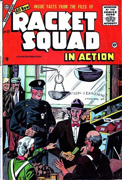 Cover for Racket Squad in Action (Charlton, 1952 series) #21