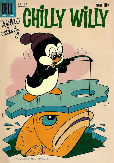 Cover for Four Color (Dell, 1942 series) #1017 - Walter Lantz Chilly Willy
