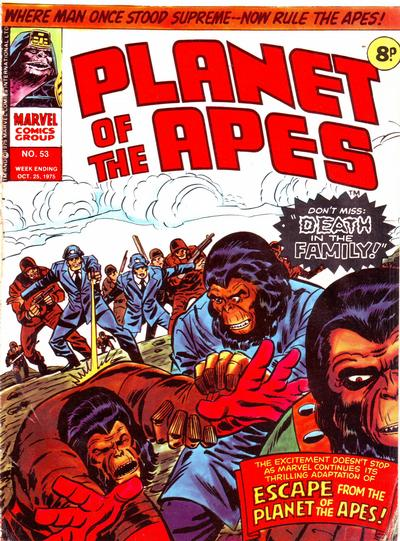 Cover for Planet of the Apes (Marvel UK, 1974 series) #53