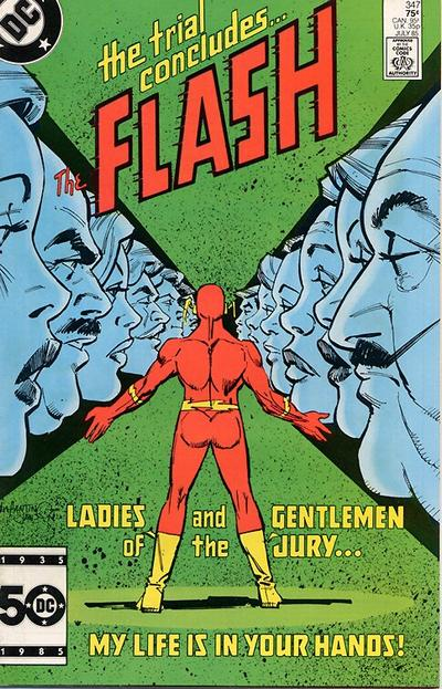 Cover for The Flash (DC, 1959 series) #347 [Newsstand Edition]