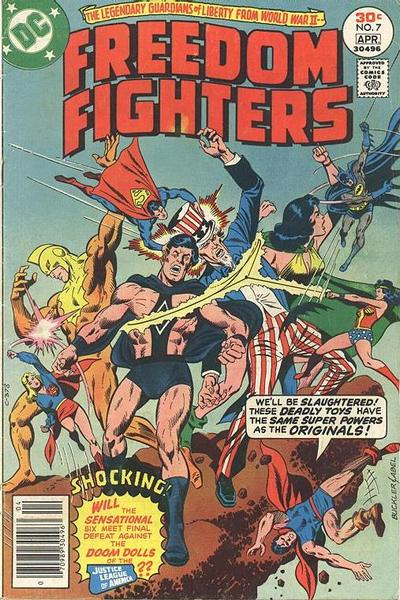 Cover for Freedom Fighters (DC, 1976 series) #7