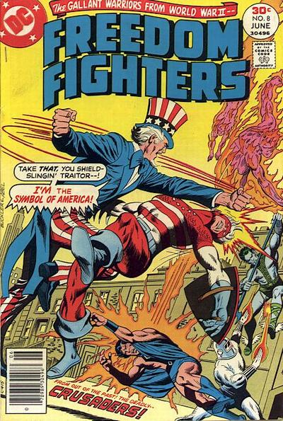 Cover for Freedom Fighters (DC, 1976 series) #8