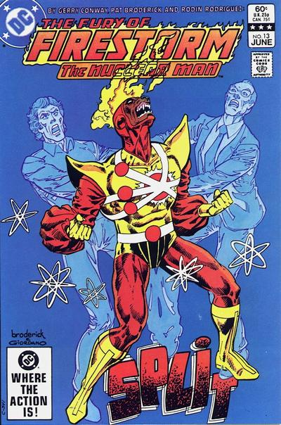 Cover for The Fury of Firestorm (1982 series) #13 [Newsstand]