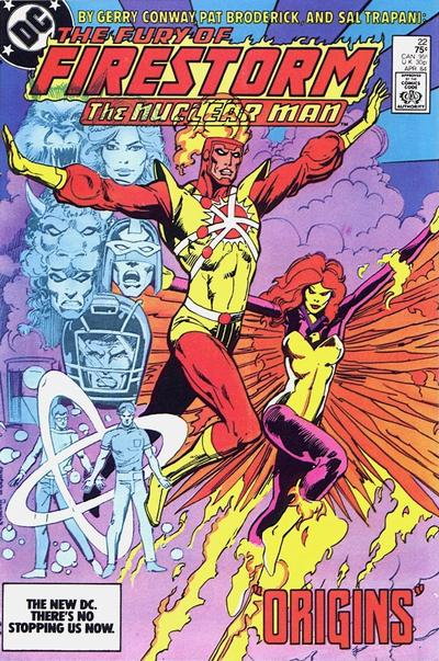Cover for The Fury of Firestorm (1982 series) #22 [Newsstand]