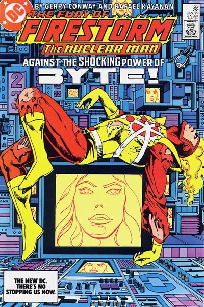 Cover for The Fury of Firestorm (DC, 1982 series) #23 [Newsstand]