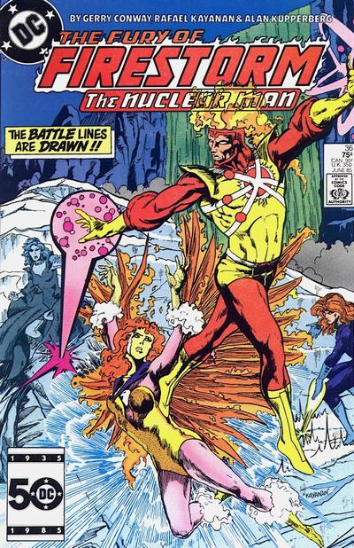 Cover for The Fury of Firestorm (DC, 1982 series) #36
