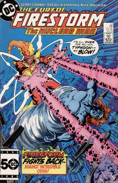 Cover for The Fury of Firestorm (DC, 1982 series) #44 [Newsstand]