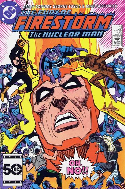 Cover for The Fury of Firestorm (1982 series) #45 [Newsstand]