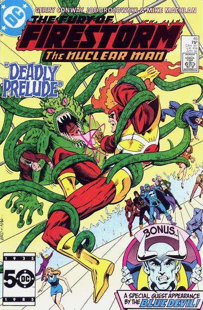 Cover for The Fury of Firestorm (1982 series) #46 [Newsstand]