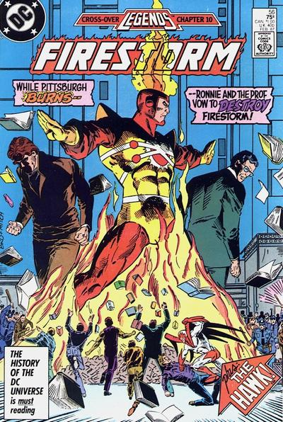 Cover for The Fury of Firestorm (1982 series) #56 [Newsstand Edition]